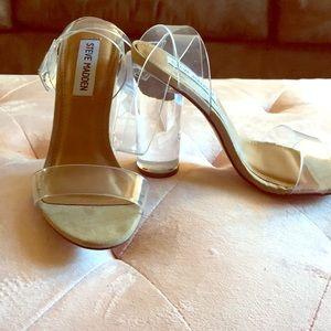 Steve Madden clear heels